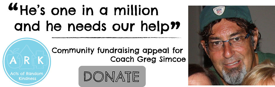 """Coach Greg Simcoe - """"He's one in a million and he needs our help"""""""