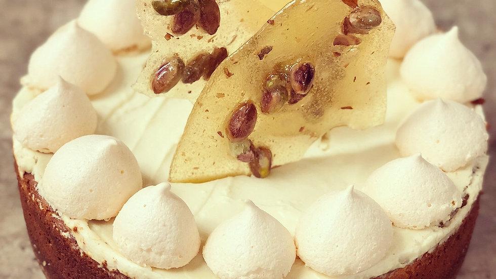 Pistachio Praline Cheesecake