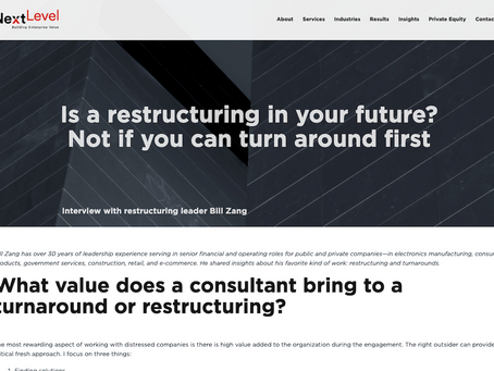 [Blog Post] Is a Restructuring in Your Future? Not If You Can Turn Around First