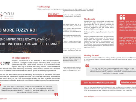[Case Study] No more fuzzy ROI: Trend Micro sees exactly which marketing programs are performing