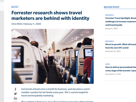 [Blog Post] Forrester research shows travel marketers are behind with identity