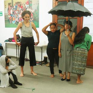 Arteterepia y Teatro de las Personas Oprimirdas en Ciudad de Guatemala
