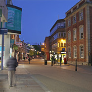 Worcester High Street By Night