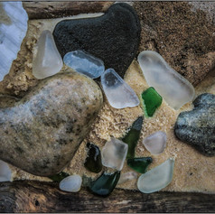 Beachcombing for Sea Glass.