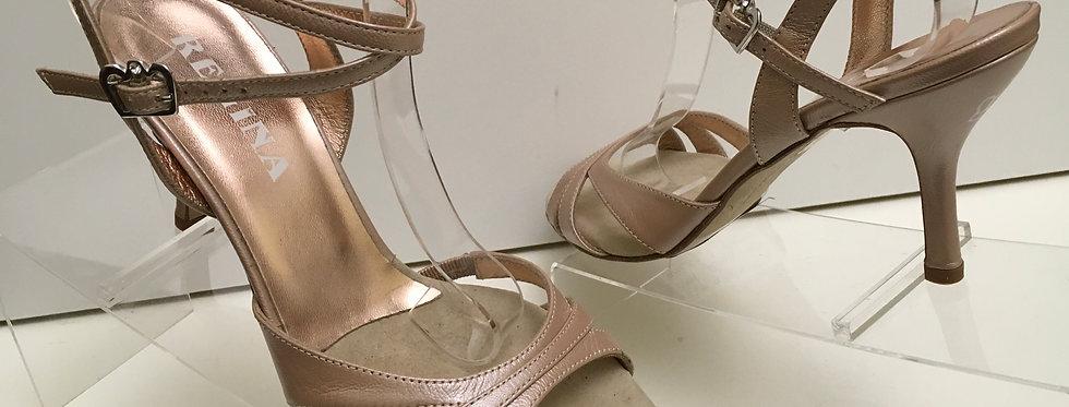 Regina Eva Twin Mambo Open Heel, Slim, 7cm
