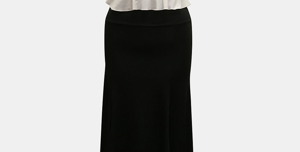 Roxana Vincelli 7 Part Skirt - Solid Black