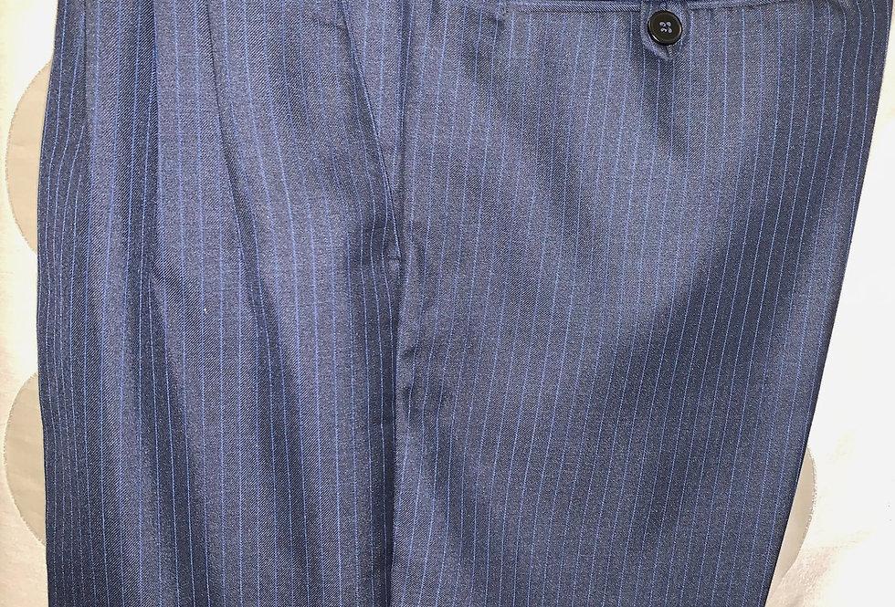 Dark Blue with Light Blue stripes, Pleated