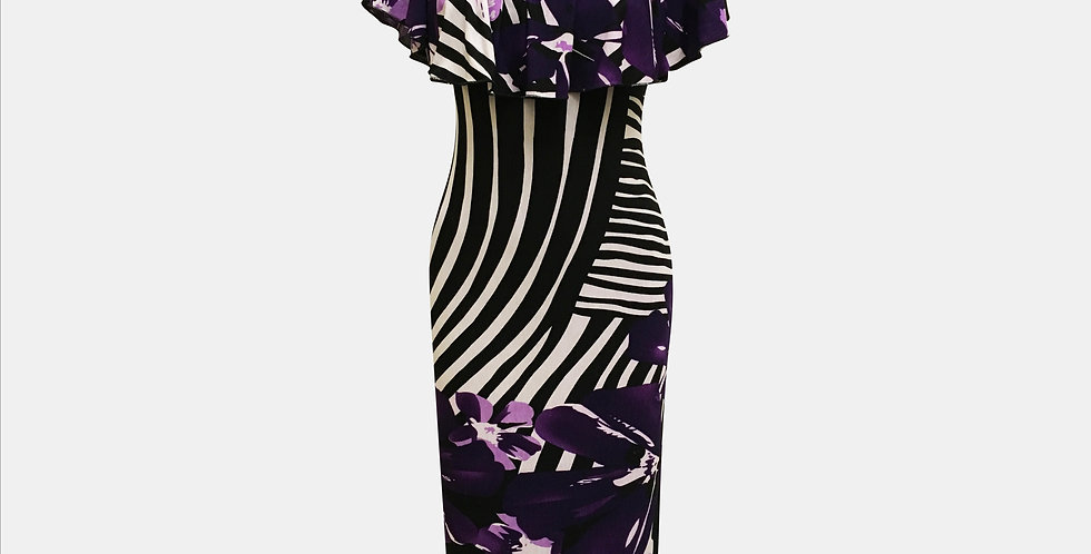 Onel Audrey - Purple Stripe Print