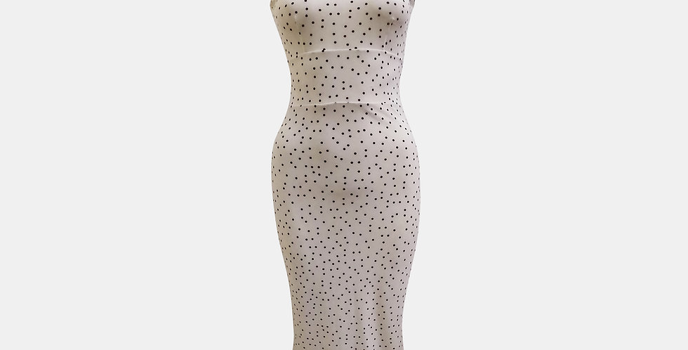 Roma White with Black Polka Dot