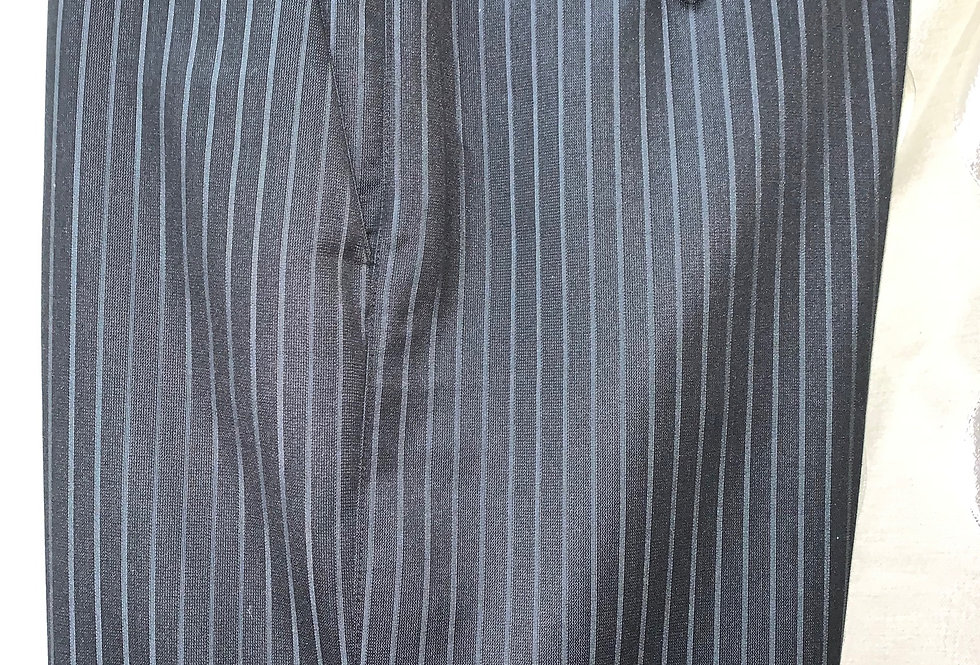 Dark Gray with White Stripes - Flat Front
