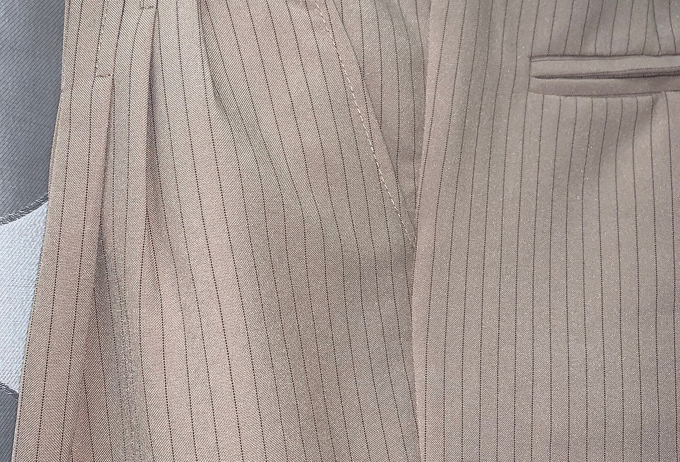 Beige with Brown Lines, Pleated