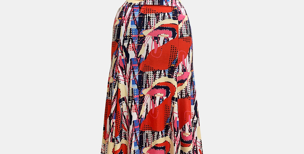 Roxana Vincelli 7 Part Skirt - Bright orange with black dots