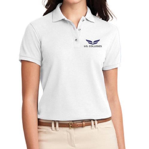 USC - Polo- D1L500 Ladies Silk - White