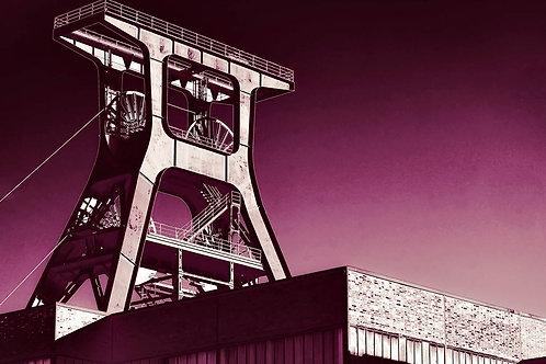 Zollverein Schacht XII dunkelrosa