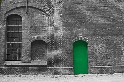 Zollverein Schacht 3/5 Anlage Grüne Tür