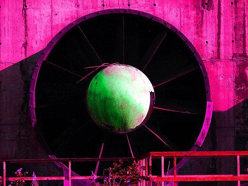 Kokerei Zollverein Turbine pink