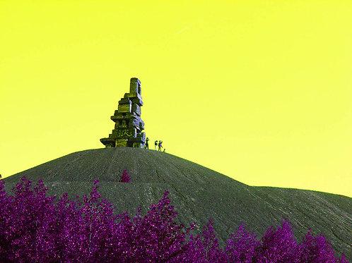 Himmelstreppe Halde Rheinelbe gelb