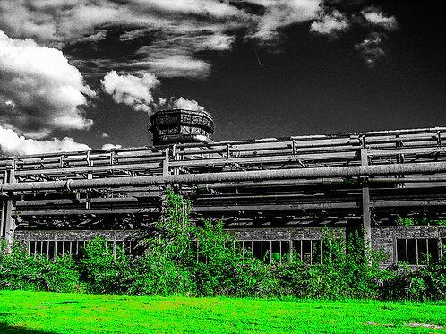 Kokerei Zollverein Kammgebäude grün