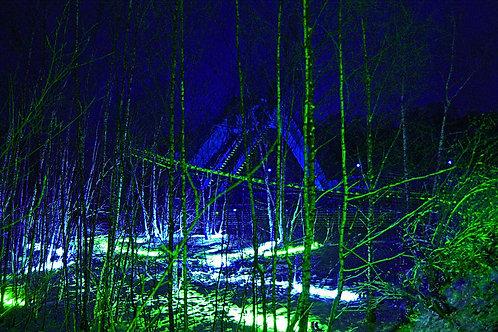 Zechenwald Zollverein blau