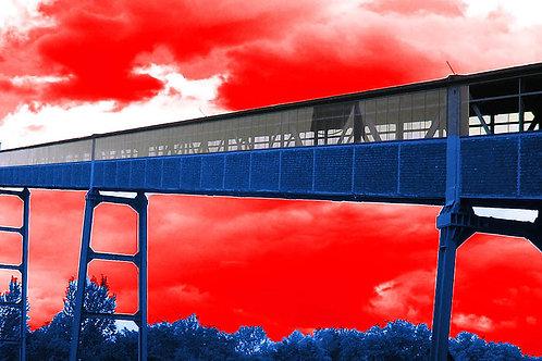 Zollverein Bandlauf rotblau