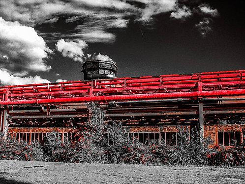 Kokerei Zollverein Kammgebäude sw rot