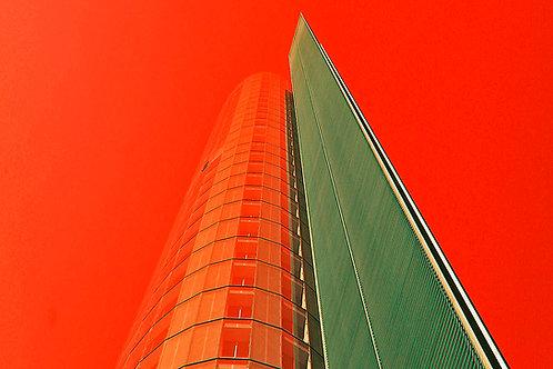 RWE Turm rot