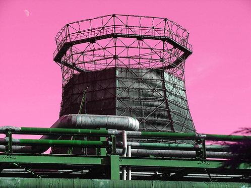 Kokerei Zollverein pink Kühlturm