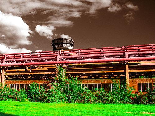 Kokerei Zollverein Kammgebäude grünbraun