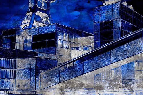 Zollverein Schacht XII blau-weiß