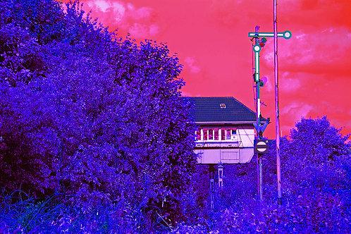 Essen Nordstadt / Altes Stell-Haus blau