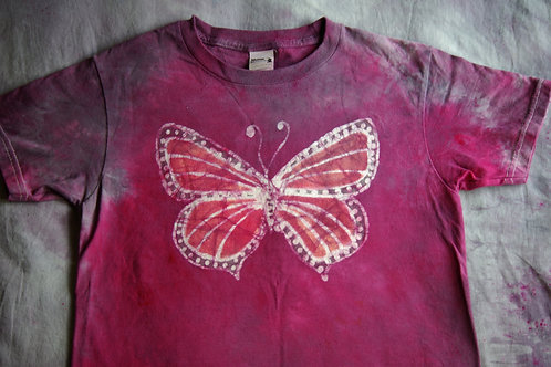 Pink Butterfly T-shirt Youth
