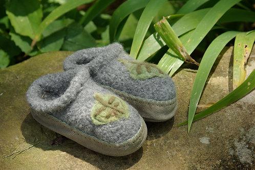 Green Leaf Slippers