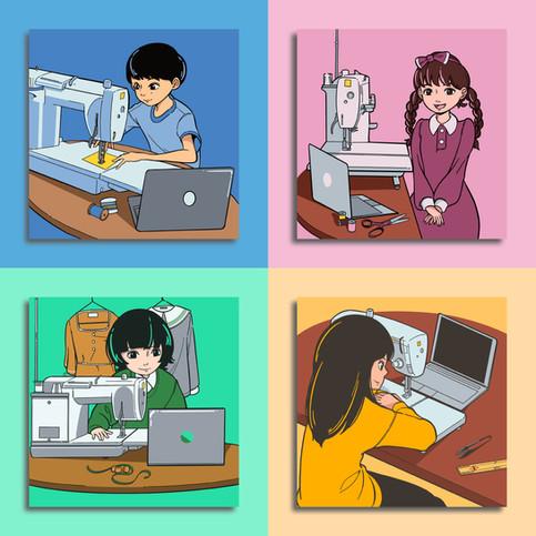合同会社ヴァレイ 広告用イラスト