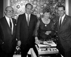 John, Denny Hulme, Haysie & Jack Brabham