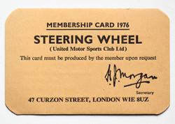 1976 Membership Card