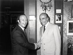 Nigel Roebuck meets Fangio at the Steering Wheel Club, 1979