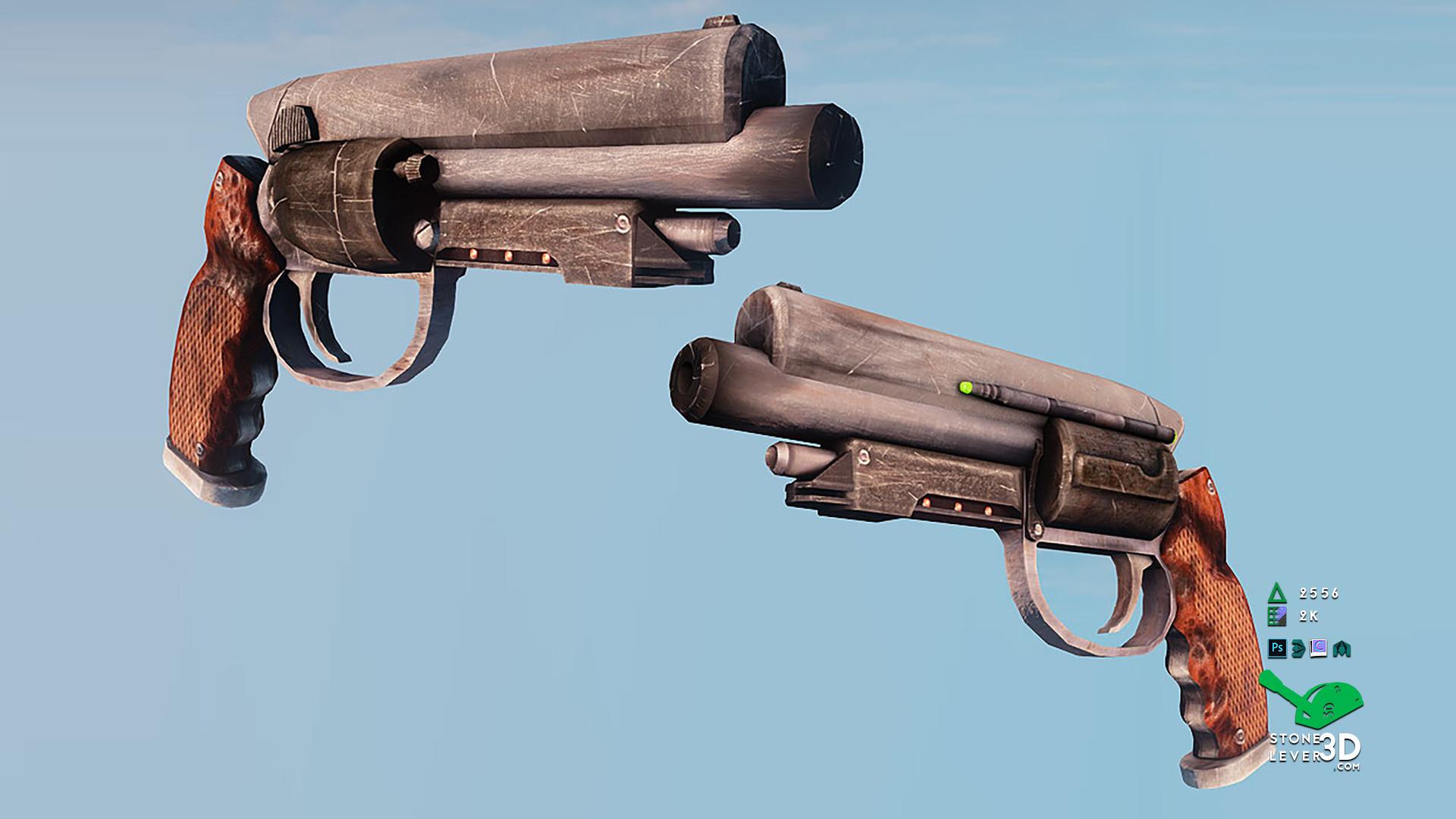 """""""That Gun"""" Weapon Prop Model Replica - UE4 Render"""
