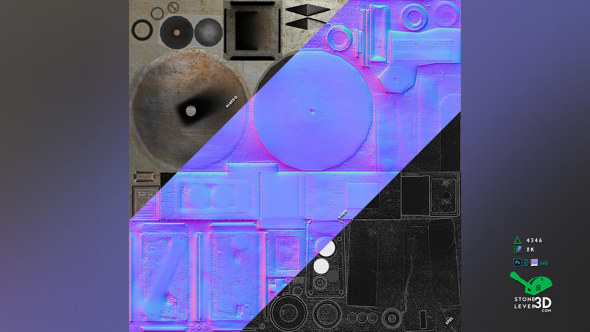 """Codac-R9000"" Prop Model Replica - Texture Sheet"