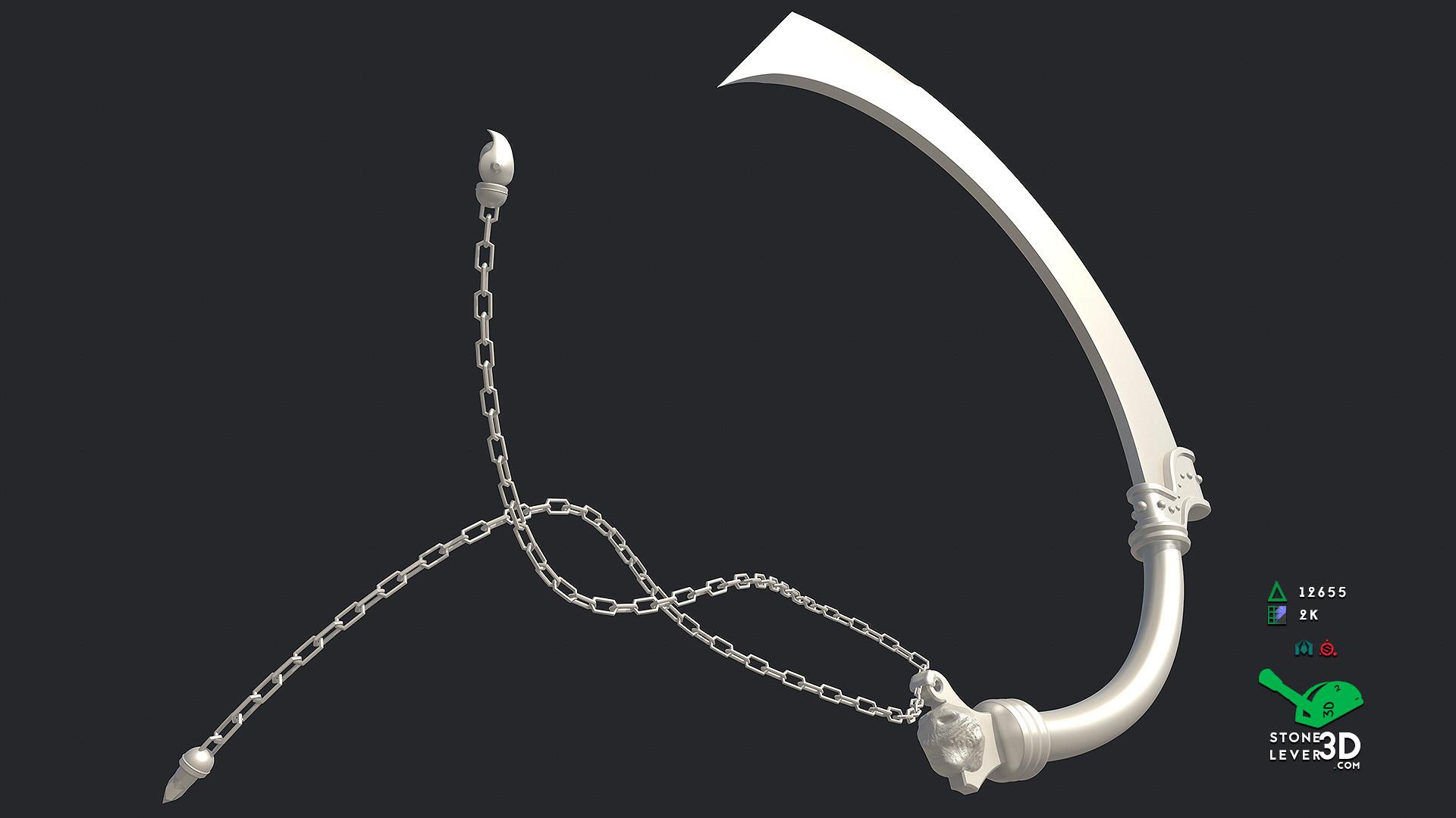 """J'Poki - Novacrusher"" - Sword Concept Prop Model - High Poly"