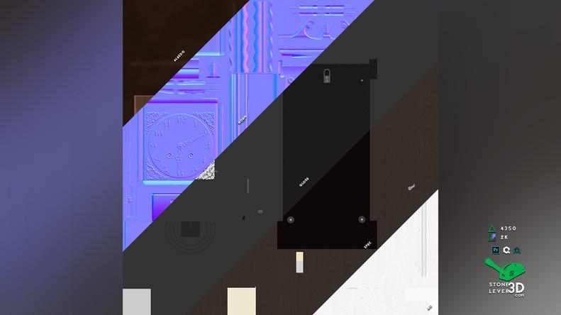 """Wall Clock"" Prop Model - Texture Sheet"