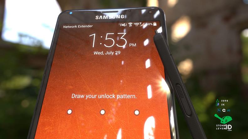 """Galaxy Note 4"" Smartphone Prop Model"