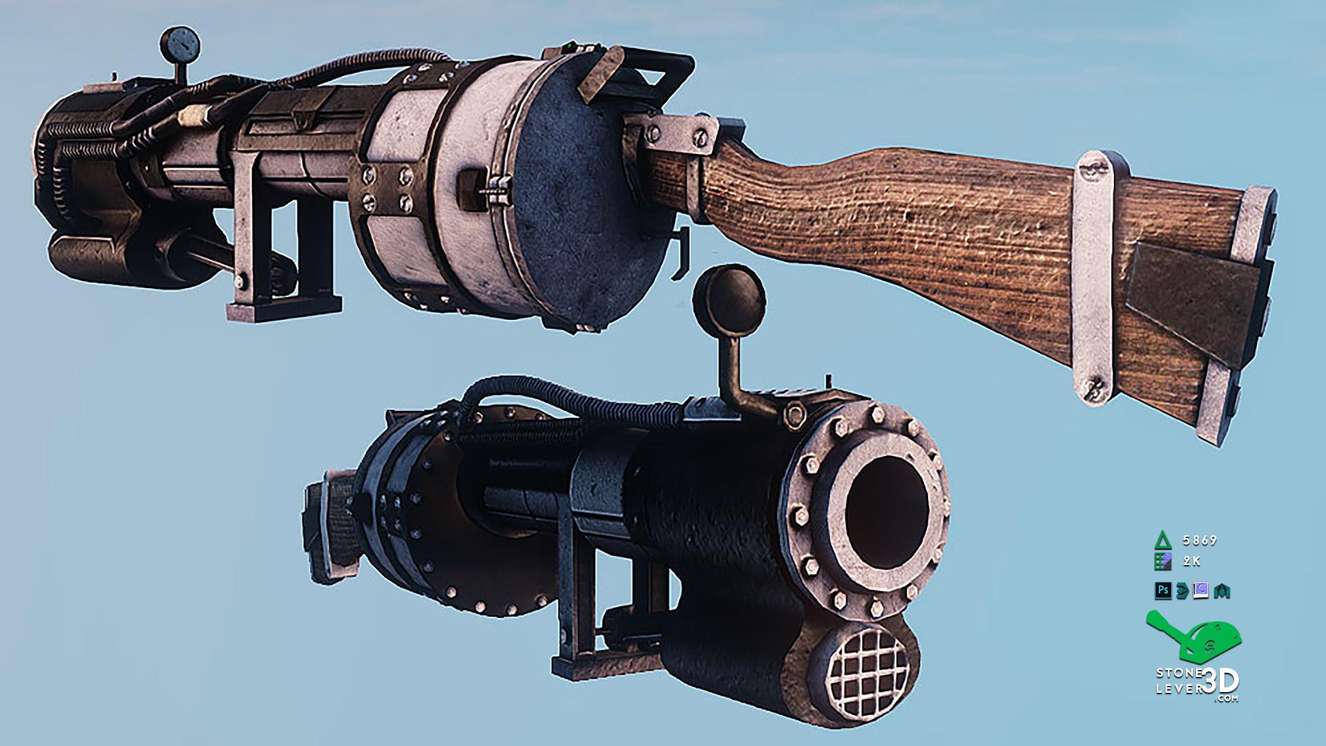 """Railway Rifle"" Weapon Prop Model Replica - UE4"