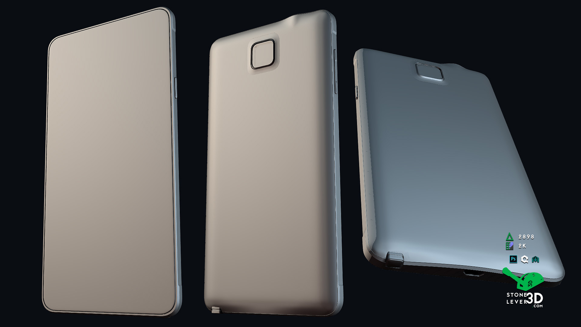 """""""Galaxy Note 4"""" Smartphone Prop Model - High Poly"""