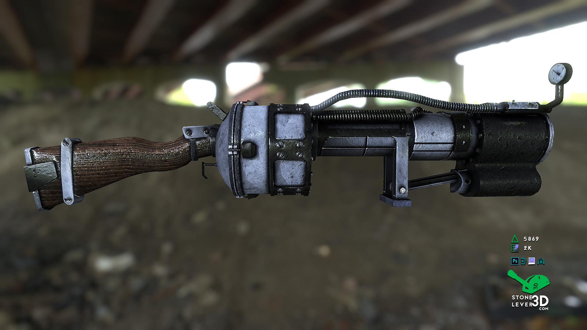 """Railway Rifle"" Weapon Prop Model Replica"