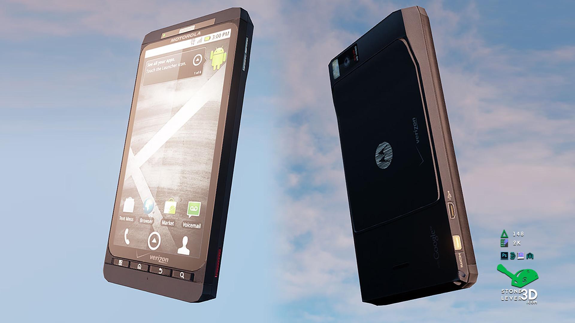 """""""Droid X"""" Smartphone Prop Model - UE4 Render"""