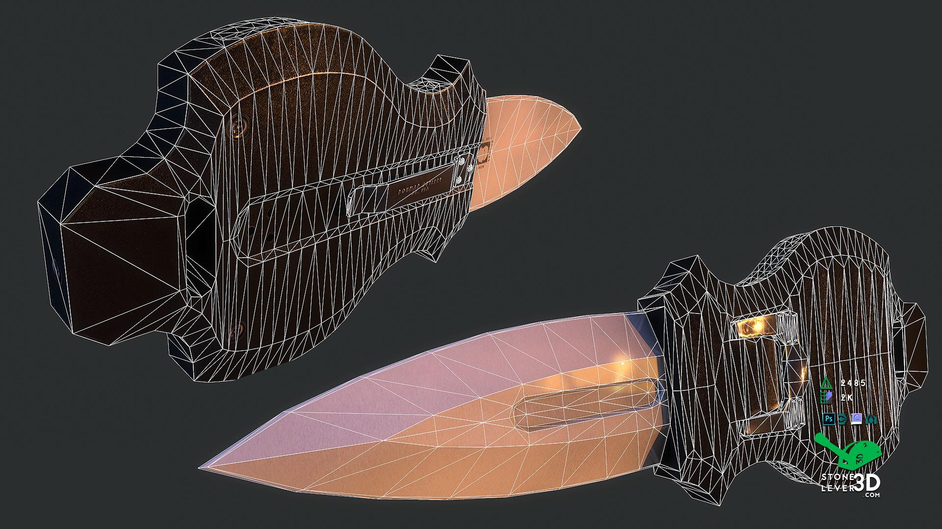 """Aegis"" Switchblade Concept Prop Model - Wireframe"