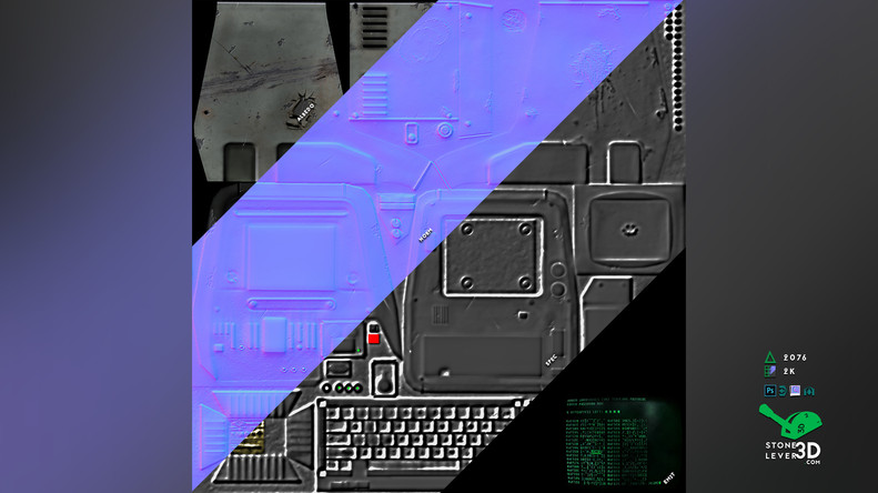 """PC Terminal"" Prop Model Replica - Texture Sheet"