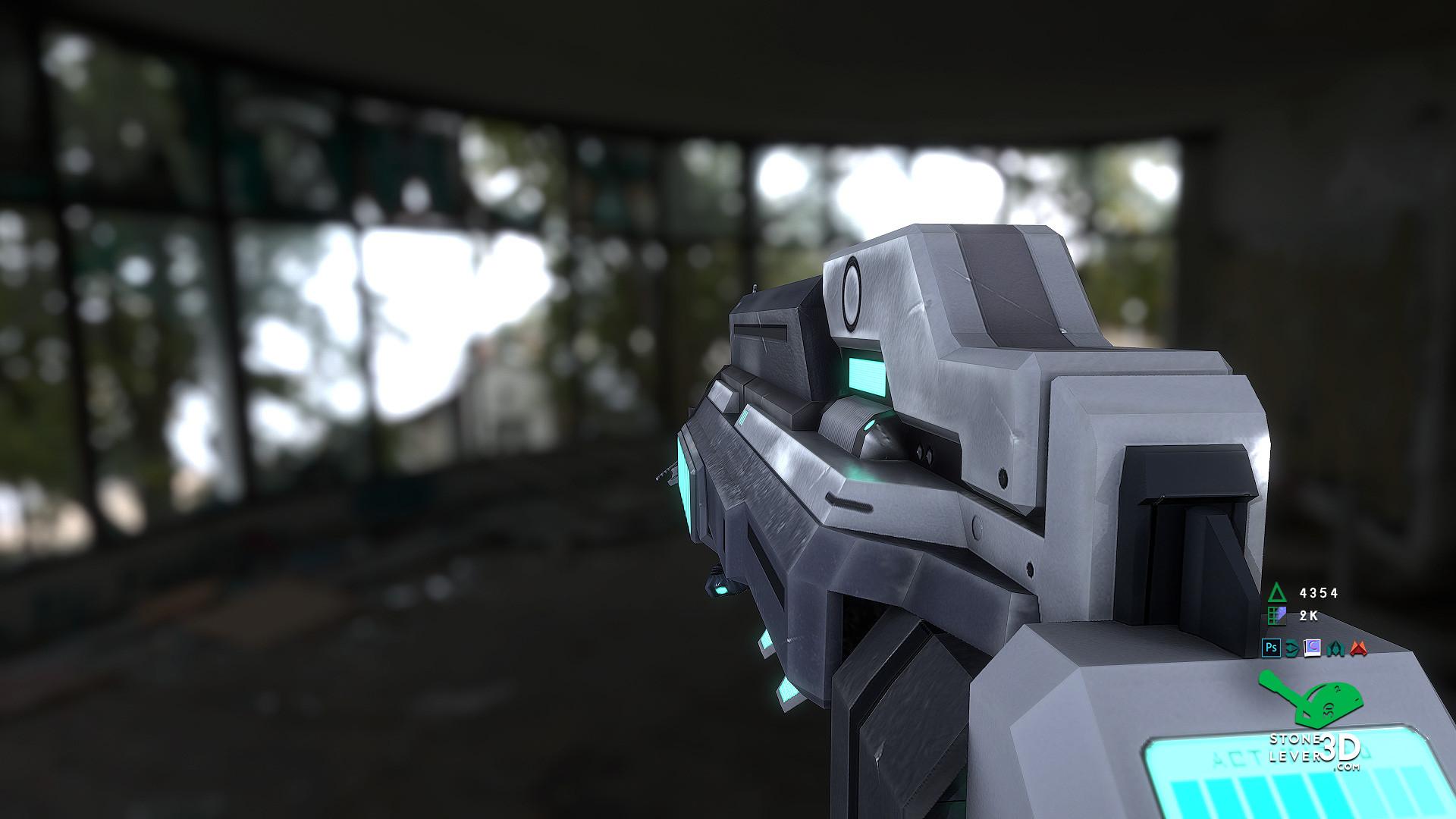 """Dream Gun"" Weapon Prop Model"