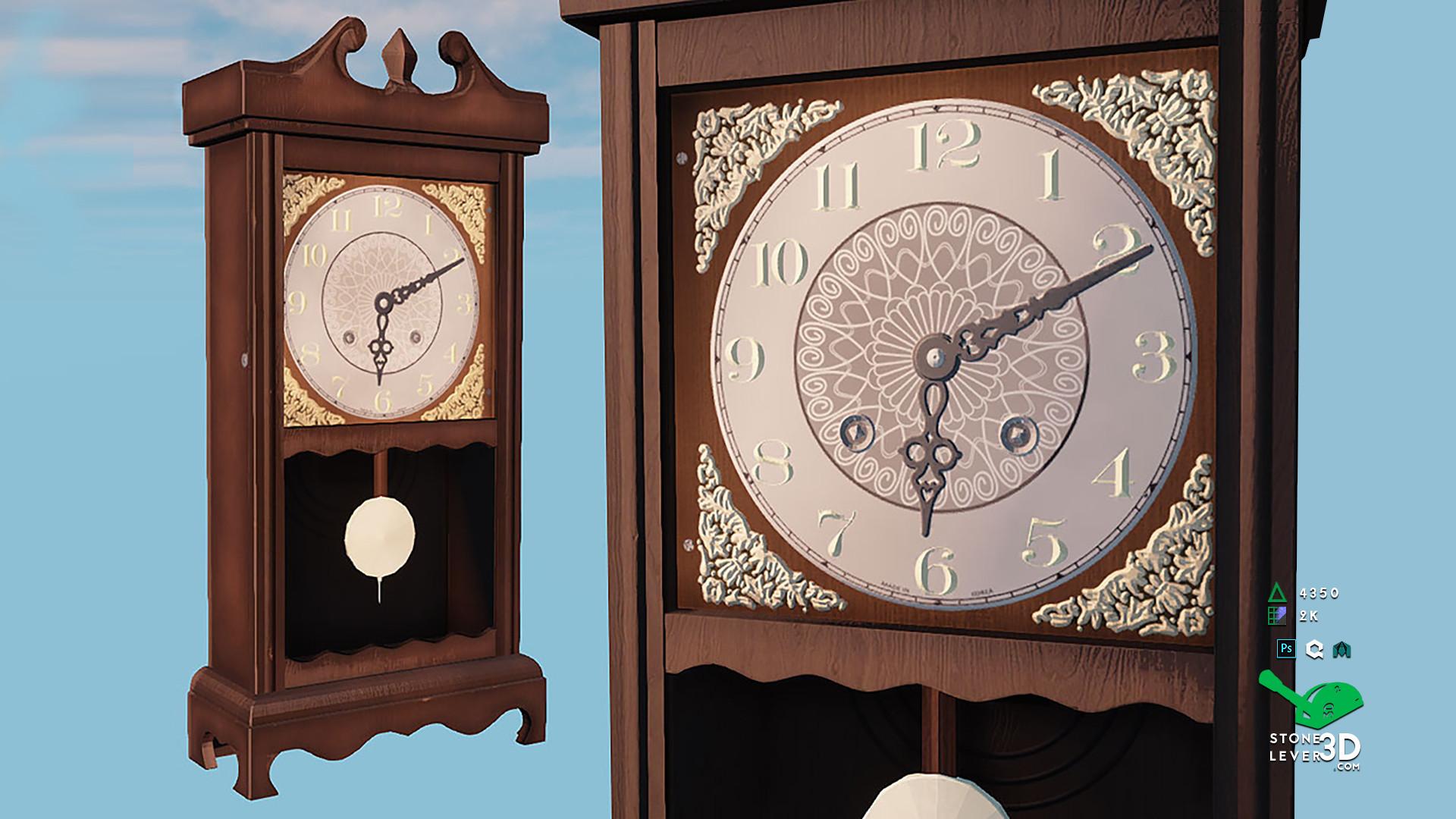 """Wall Clock"" Prop Model - UE4 Render"