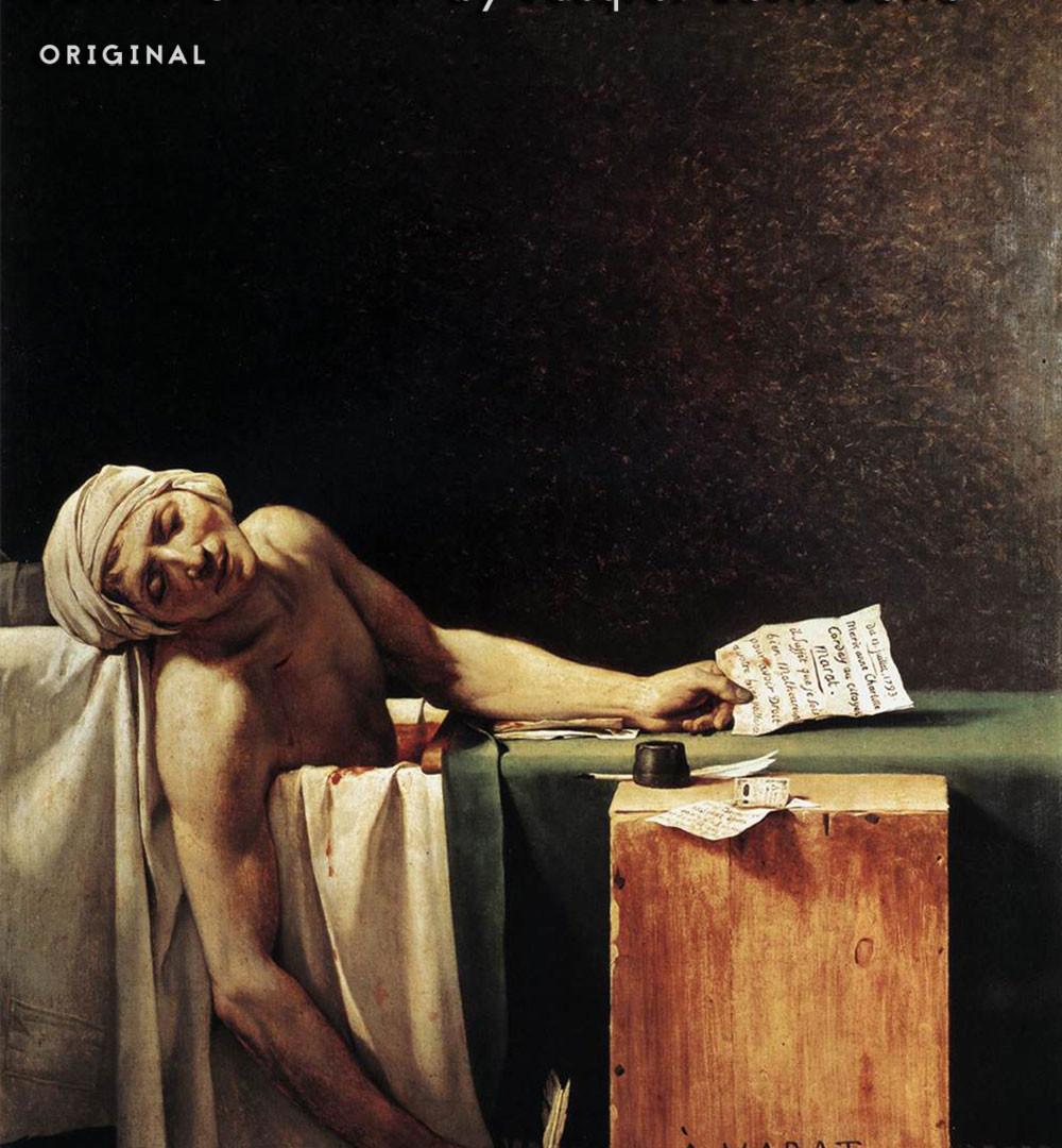 """Death of Marat"" Master Copy Digital Painting - Original"